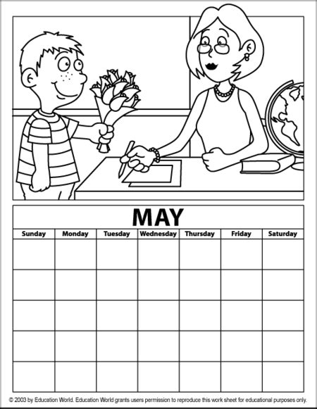 free may 2015 calendar coloring pages