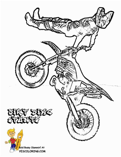 easy dirt bike coloring pages get this easy printable dirt bike coloring pages for