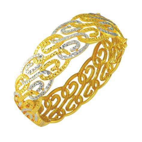 Gelang Berlian Emas 75 Wanita gelang tangan emas 916 wah chan gold jewellery