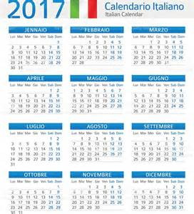 Italy Kalendar 2018 Italian Calendar 2017 Calendario Italiano 2017 Stock
