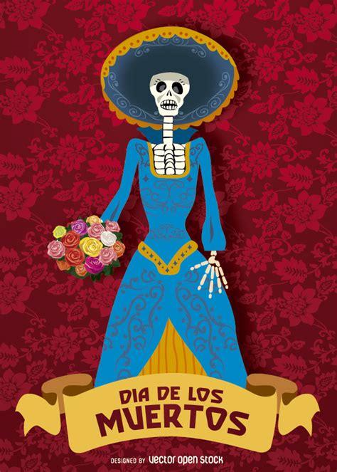 catrinas dia de muertos day of dead dia de los muertos catrina vector download