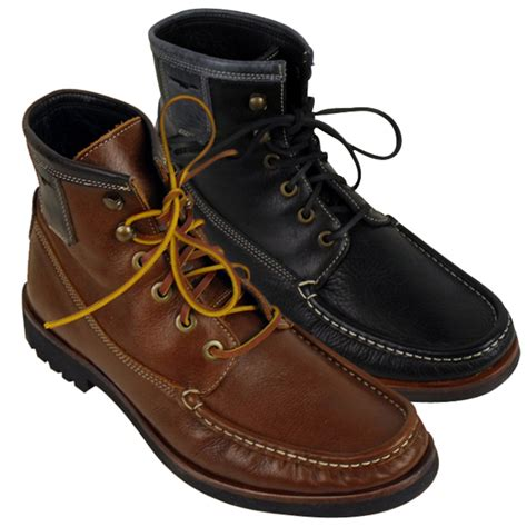 mens moccasin boot h by hudson mens emerson leather moccasin ankle boot