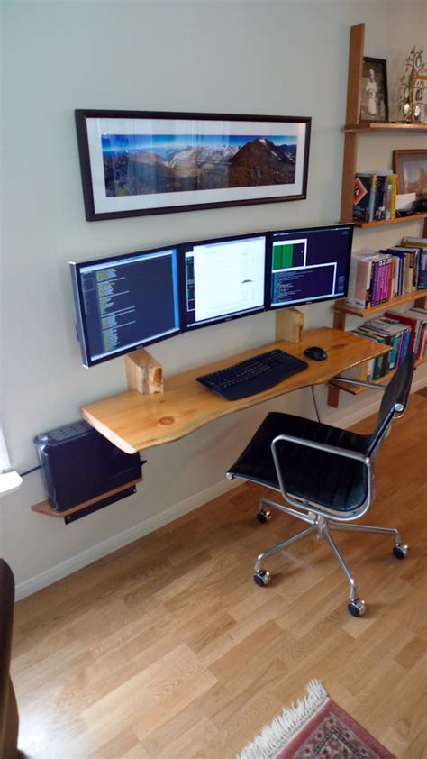home office monitor hanging desk and computer monitors on inspirationde