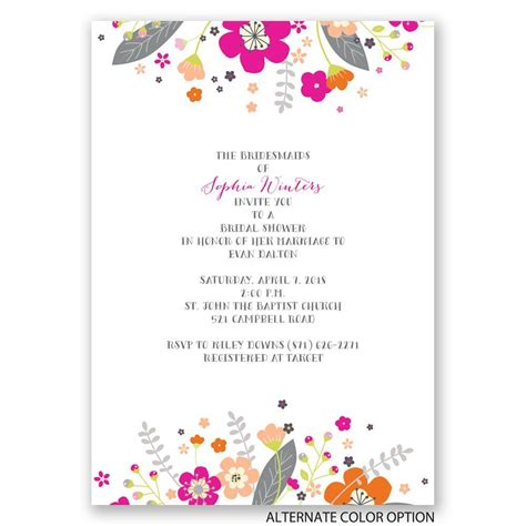 Floral Bridal Shower Invitations by Floral Explosion Bridal Shower Invitation Invitations By