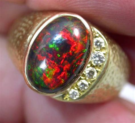 Black Opal Jarong Big Size 2 opal dealers 18 k black opal ring size 13
