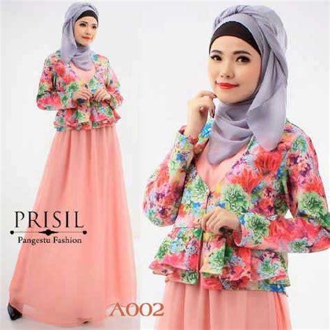Baju Muslim Wanita Kerja Baju Muslim Setelan Remaja Prisil A002 Model Gamis Terbaru