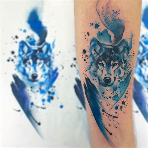 watercolor animal tattoo animals tattoos resemble adorable watercolor paintings