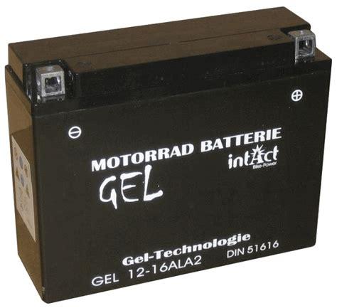 Motorrad Batterie Online Kaufen by Motorradbatterie Gel 12v 16ah 280a Yb16al A2 Intact Online