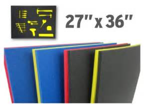 foam custom tool drawer inserts 27 quot x36 quot blue yellow