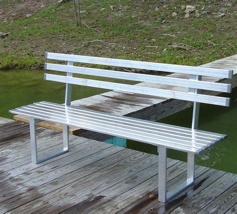 aluminium benches 6ft aluminum bench custom options marine outdoor