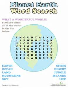 word search planet earth worksheet education com