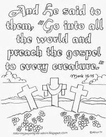 Coloring Pages For Kids By Mr Adron Go Preach The Gospel Gospel Coloring Pages