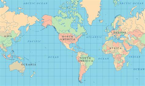 gallery world map flat