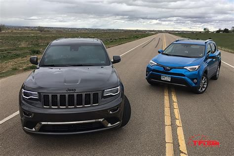 toyota jeep 2016 2016 jeep grand cherokee diesel vs toyota rav4 hybrid mpg