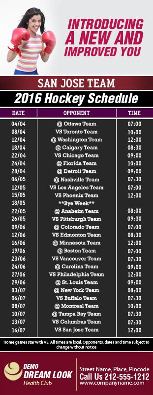 Sharks Giveaway Schedule - 3 5x9 custom one team san jose team hockey schedule business card magnets 20 mil san