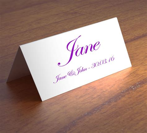 wedding place cards with names printed uk personalised wedding name place table cards printed any