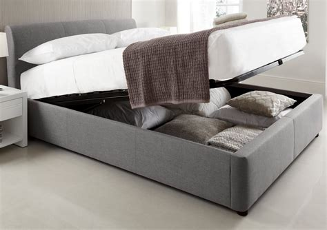 king size ottoman bed with mattress serenity upholstered ottoman storage bed grey king