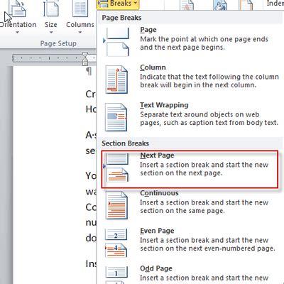 change  orientation   single page  word