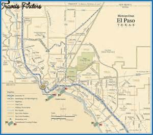 el co map el paso map travel map vacations travelsfinders