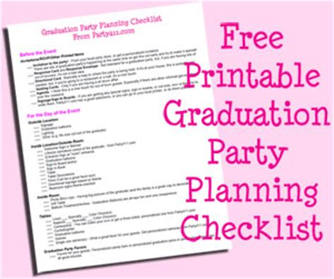 graduation planning checklist graduation