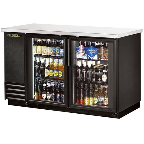 Bar With Refrigerator by True Tbb 2g Ld 59 Quot Glass Door Back Bar Refrigerator With