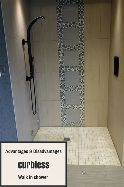 curbless shower advantages and disadvantages of a curbless walk in shower