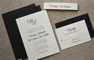 black tie invited wedding black tie wedding invitation classic black by