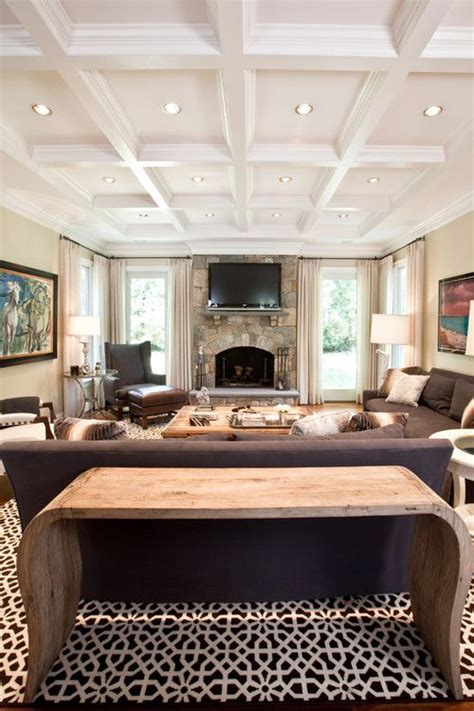 Ceiling Ls For Living Room 36 Stylish And Timeless Coffered Ceiling Ideas For Any Room Shelterness