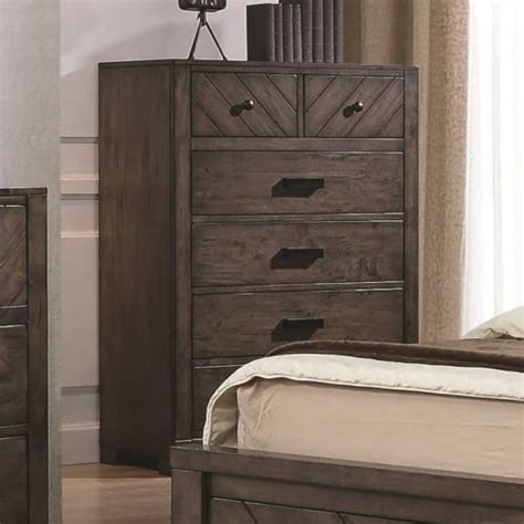Felt Lined Drawers by Lawndale 6 Drawer Rustic Chest W Felt Lined Drawers