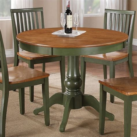 Green Dining Table by Steve Silver Company Candice Oak Green Dining