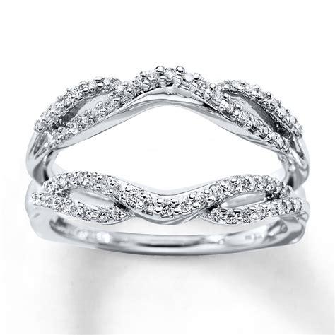 enhancer ring 1 3 ct tw cut 14k white gold