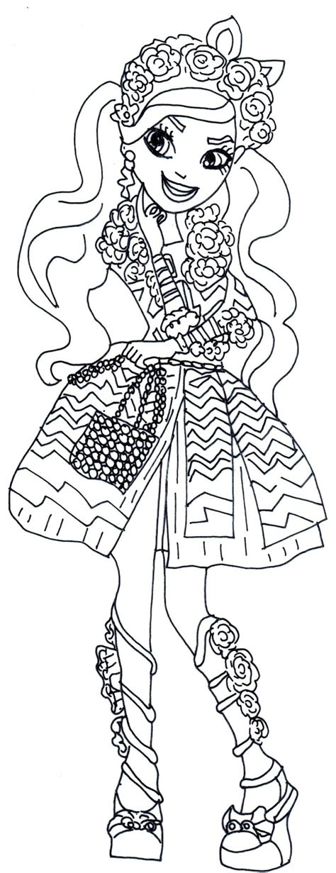 kitty cheshire coloring pages free printable ever after high coloring pages kitty