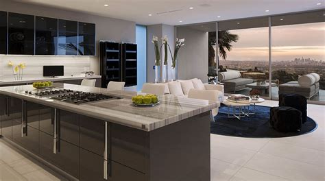modern kitchen cabinets contemporary los angeles by exquisite hollywood mansion captures the picturesque views