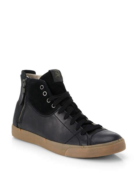 diesel sneakers diesel d vellows zippy high top sneakers in black for