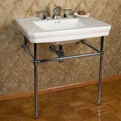 bathroom sink consoles porcelain console sink with brass stand bathroom
