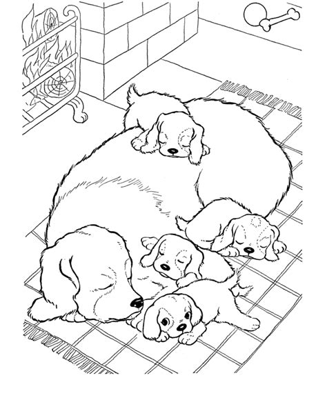 Coloring Pages Of Dog And Puppy | free printable dog coloring pages for kids