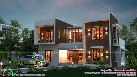 box type home in beautiful style kerala home design and stunning box type home kerala home design and floor plans
