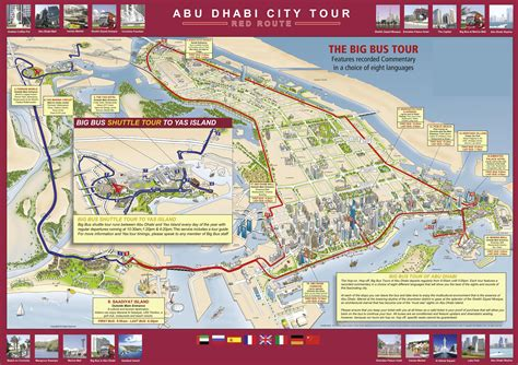 abu dhabi on map abu dhabi hop on hop tour city route