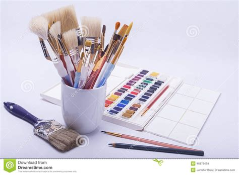 painting and drawing artists painting and drawing materials stock photo image