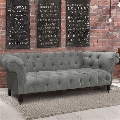 Gray Velvet Chesterfield Sofa Elegant Grey Velvet Tufted Gray Velvet Chesterfield Sofa