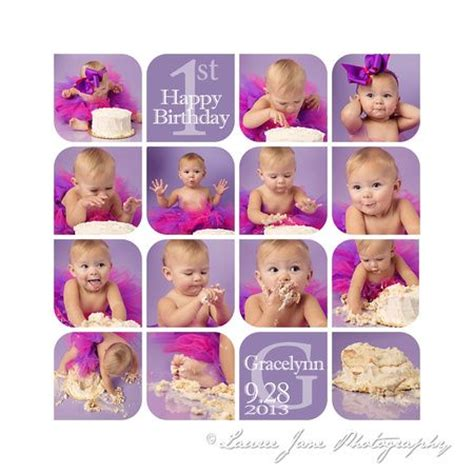Cake Smash Collage Template Free Google Search Cake Smash Photography Pinterest Collage 1st Birthday Collage Template