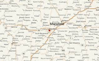 mansfield map mansfield ohio location guide