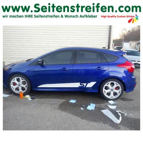 dekor aufkleber f rs auto ford focus st custom seitenstreifen auto aufkleber dekor