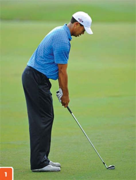 golf swing for tall players tiger woods chin up for good posture golf digest