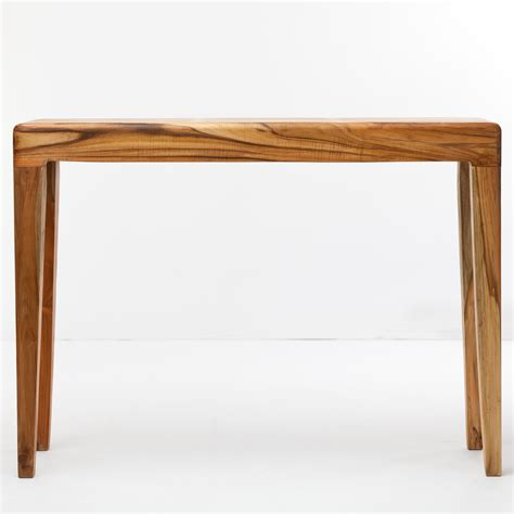Wooden Console Table Lawru Console Table Reclaimed Teak