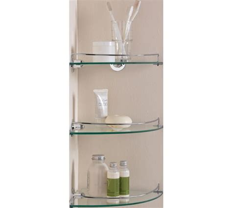 Buy Home Glass Corner Shelves Pack Of 3 At Argos Co Uk Bathroom Corner Shelving