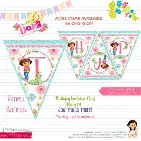 printable dora birthday banner 17 best images about dora et diego on pinterest party
