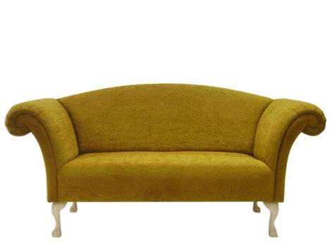 The Handmade Sofa Company - regency chaise sofa in fabric leather the handmade sofa