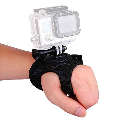 Glove Style Velcro Wrist Band Xiaomi Yi Gopro Murah vvhooy 360 degree rotation glove style band wrist mount belt with for gopro