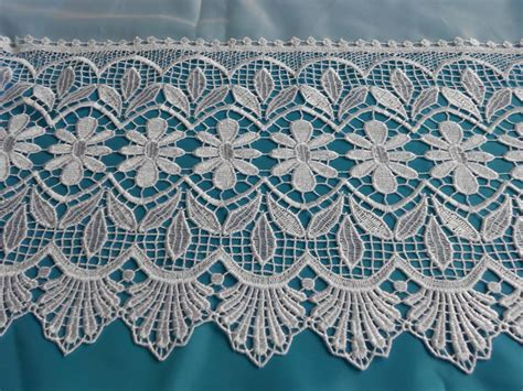 Lace Macrame - zoe macrame lace base net curtain 2 curtains